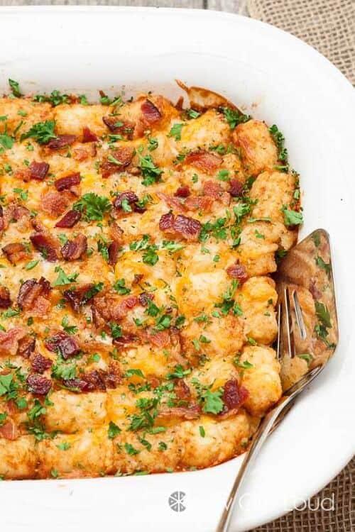 Cheesy Tater Tot Breakfast Casserole