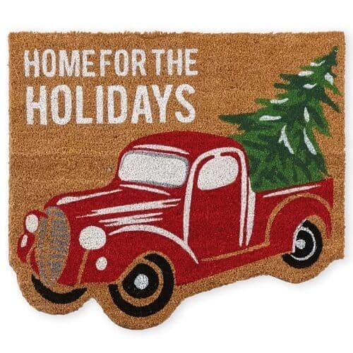 Christmas Truck Doormat