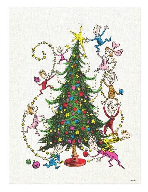 Classic The Grinch Christmas Tree Canvas Print