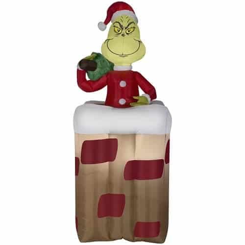 Grinch Popping out of Chimney Grinch Christmas Inflatable