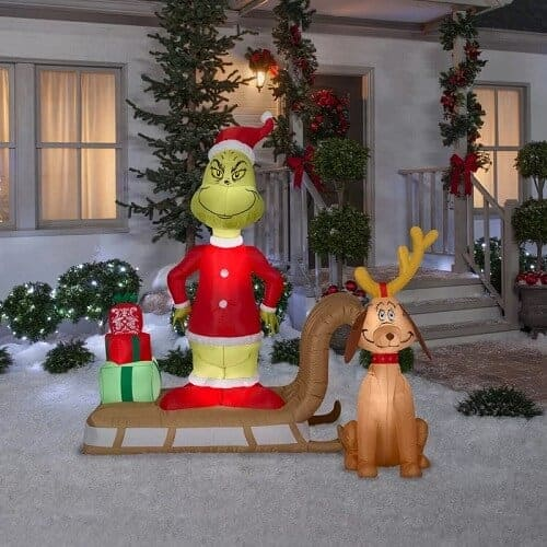 Grinch and Max Christmas Inflatable Decoration