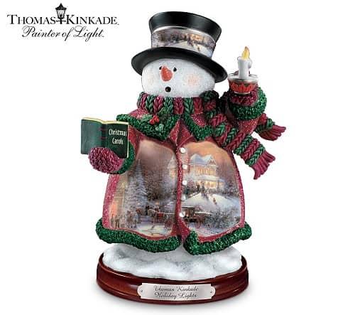 Holiday Lights Snowman Christmas Decoration