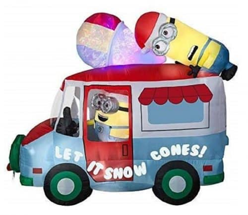 Inflatable Minions Snow Cone Holiday Truck