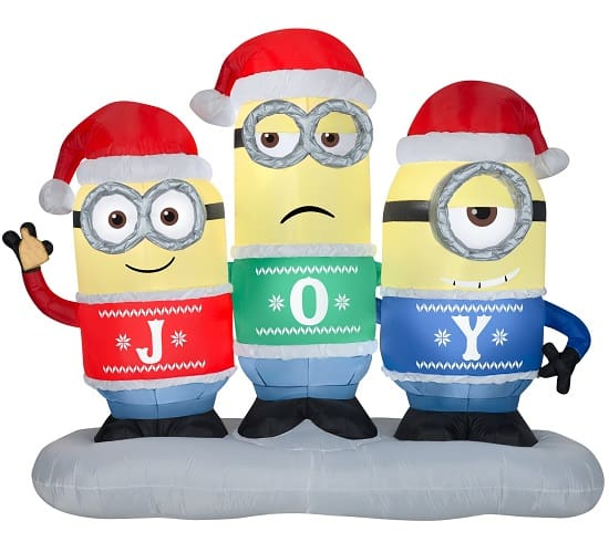 Joy Minions Christmas Inflatable