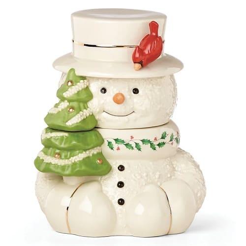 Lenox Snowman Cookie Jar