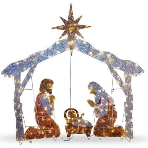 Lighted Nativity Scene Display