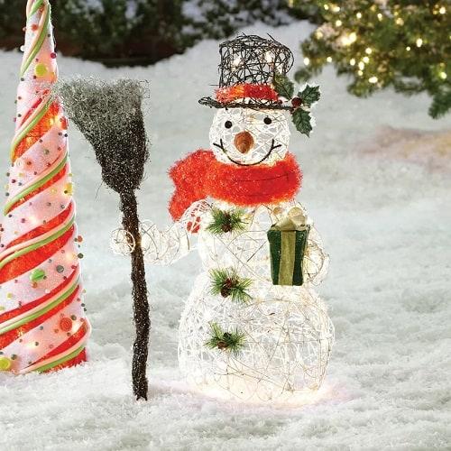 Lighted Snowman Christmas Decoration