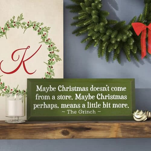 Maybe Christmas Doesn't Come From a Store Textual Art Plaque