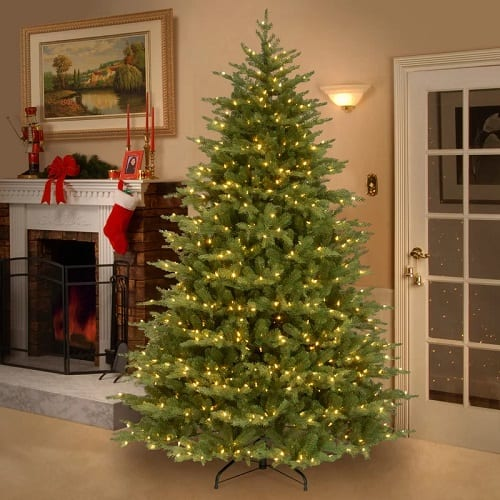 Nordic Spruce Green Spruce Artificial Christmas Tree with Clear White Lights
