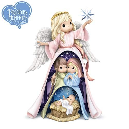 Precious Moments Nativity 3-in-1 Angel Christmas Decoration