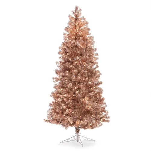 Prelit 7.5 ft Rose Gold Christmas Tree