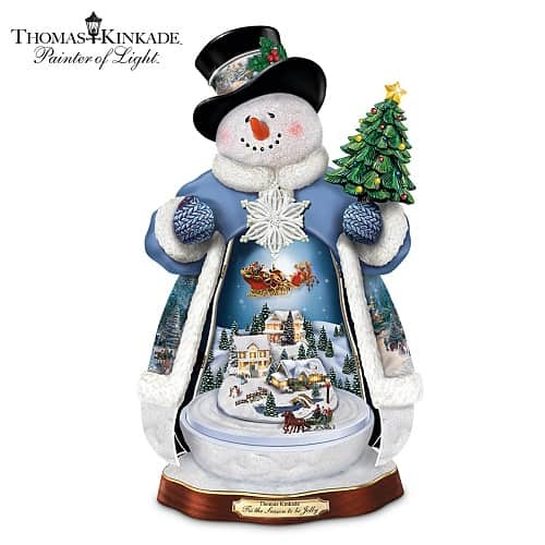 Snowman Christmas Decoration With Lights, Music And Motion