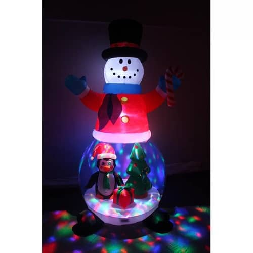 Snowman Globe with Penguin & Christmas Tree Christmas Inflatable