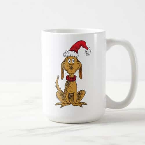 The Grinch Max Santa Hat Coffee Mug
