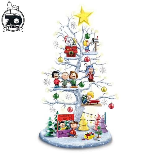 The Perfect PEANUTS Christmas Illuminated Tabletop Tree