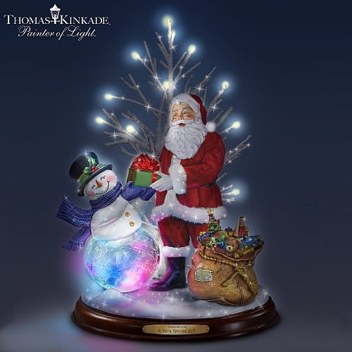 Thomas Kinkade A Very Special Gift Lighted Musical Christmas Decoration