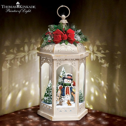 Thomas Kinkade Winter In A Wonderland Illuminated Lantern