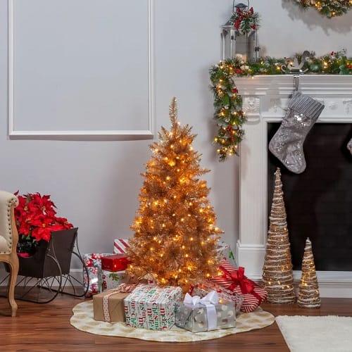 Tuscan Gold Pine Artificial Christmas Tree