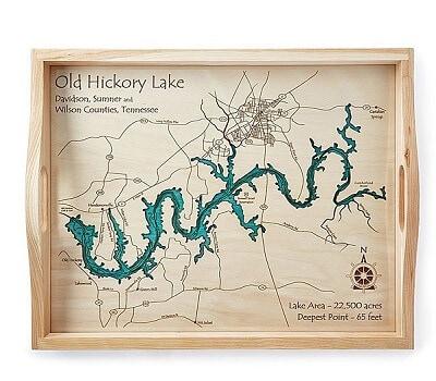 Coastal and Lake Art Serving Trays