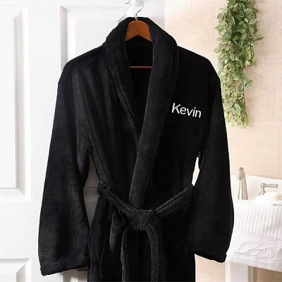Embroidered Luxury Fleece Robe - Personalized Gifts for Men