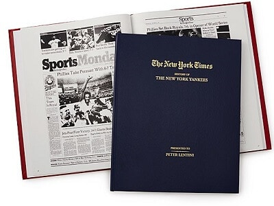 New York Times Custom Baseball Book