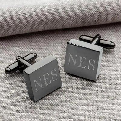 Personalized Square Gunmetal Cufflinks