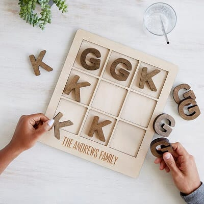 Personalized Tic Tac Toe - Personalized Gifts for Him