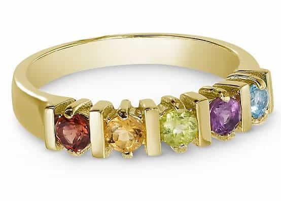 14K Gold Sterling Genuine Birthstone Rings