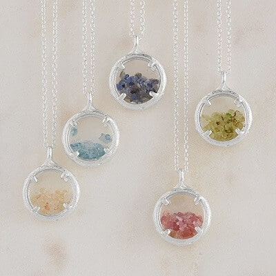 Crushed Gems Birthstone Necklace