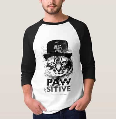 Keep Calm and Stay Pawsitive T-Shirt