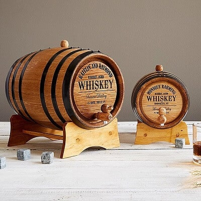 Personalized Whiskey Barrel - Unique Gifts for Men