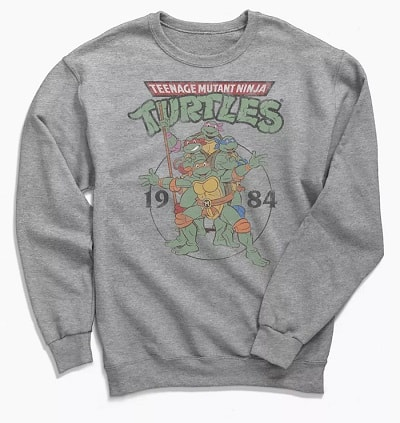 Teenage Mutant Ninja Turtles Logo Crew Neck Sweatshirt