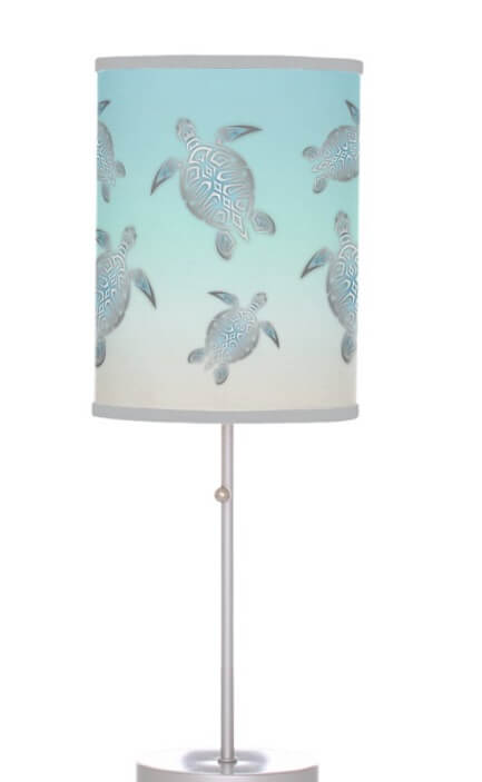 Turtles Beach Style Table Lamp