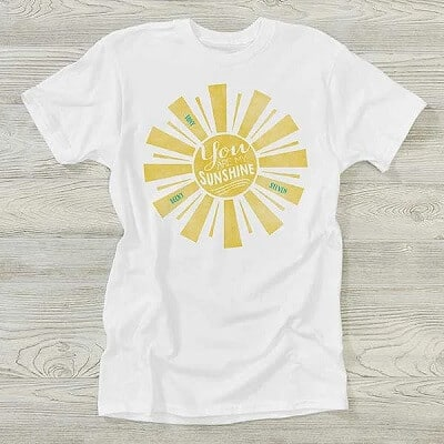 You Are My Sunshine Personalized Hanes Adult T-Shirt