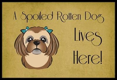 A Spoiled Dog Lives Here Non-Slip Door Mat