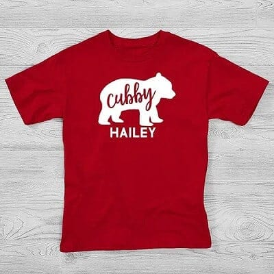Baby Bear Personalized Hanes Kids T-Shirt