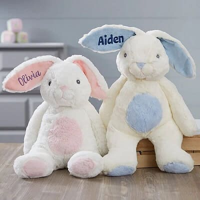 Bun Bun Bunny Personalized Pink & White Bunny - Personalized Bunny Gifts