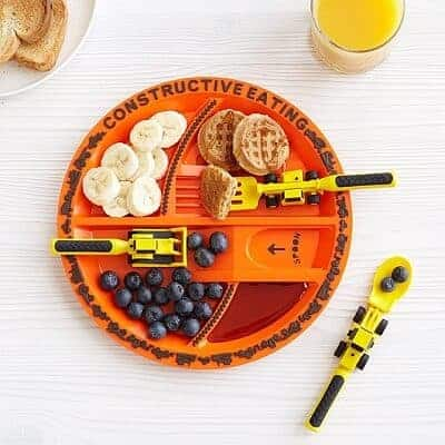 Construction Plate & Utensils - New Parents Gifts