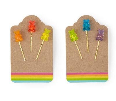 Gummy Bear Bobby Pins Set