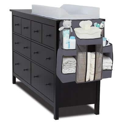 L.A. Baby Diaper Caddy and Nursery Organizer for Baby's Essentials