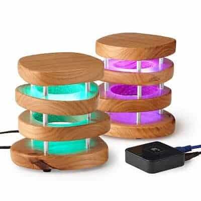 Long Distance Friendship Lamp - Wood