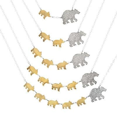 Mama Bear Necklaces - Bear Gifts for Mom