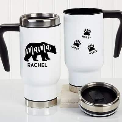 Mama Bear Personalized 14 oz. Commuter Travel Mug
