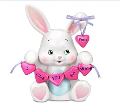 Personalized Musical Bunny Figurine - Bunny Gifts