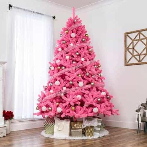 Pink Fir Artificial Christmas Tree