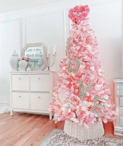 Pre-lit Pink Christmas Tree - Best Pink Christmas Trees