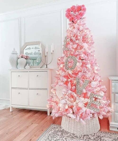 Pre-lit Pink Christmas Tree - Best Pink Christmas Trees