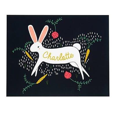Rabbit Personalized Animal Print