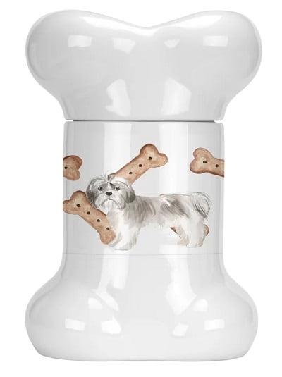 Shih Tzu Bone Shaped Pet Treat Jar