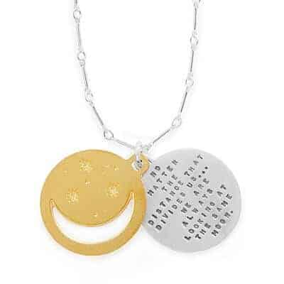 Under The Same Moon Pendant - Long Distance Relationship Gifts
